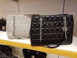 NWT MICHAEL KORS VIVIANNE LARGE Quilted Leather Tote Shoulder Bag BLACK ... - $178.19