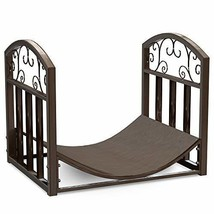 Home-Complete Firewood Rack Holder with Decorative Scroll Design Metal O... - $42.34