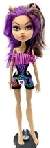 Mattel Monster High Doll Clawdeen Wolf Gloom Beach With Earrings Clothes... - $8.90