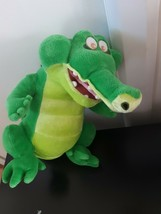 "Disney Store Peter Pan Croc Crocodile Plush Stuffed Animal Green 14"" Tall - $24.70"