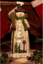 Tall Snowman Statue W/ LED Lights And Timer, 23 Inch Tall - $74.90
