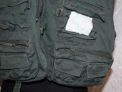 1b42e393cc974 White River Fly Shop Fishing Vest Sz M Olive Green Multi Pocket Hunting  Outdoor