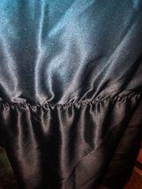 SCOOP BEACH Regal Cobalt Blue + Midnight Black Ombre Silk Dress Size M image 4