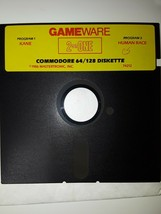 """Commodore 64 GameWare 2 on One (Human Race/Kane C64 5.25"""" floppy 1986 - $25.20"""