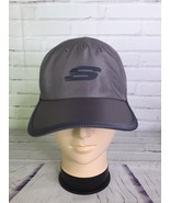 Skechers Sport Hat Cap Gray Strapback Logo Lightweight One Size Fits All - $30.84