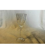 """Vintage Clear Crystal Aperitif or Cordial Glass Engraved Design 5.625"""" Tall - $22.28"""