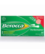 Berocca Performance Effervescent Berry Flavor NO Caffeine 2 Boxes = 60 Tablets - $49.95