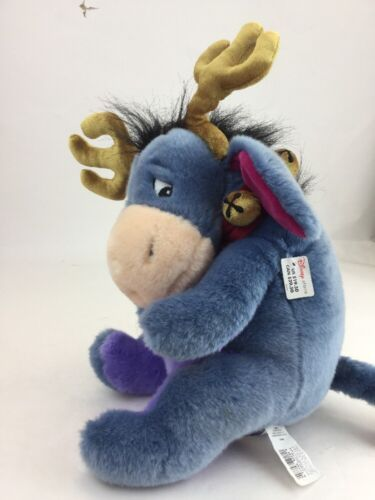 "Disney Store Exclusive Winnie Pooh Eeyore Donkey 13"" Christmas Reindeer Plush image 2"