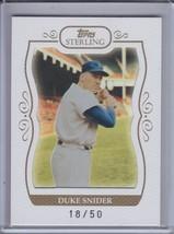 DUKE SNIDER 2008 Topps Sterling Framed White #18/50 #44 (C6006) - $7.16