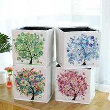 Tree Sparkle Special Shape Drills Diamond Paint by Number Shelf Tote DIY... - $21.77+