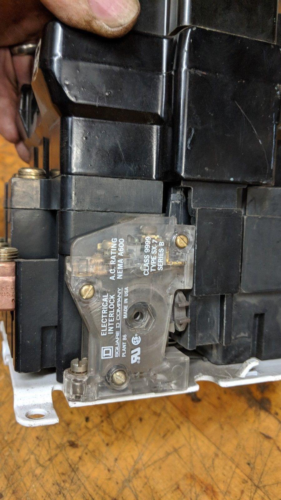 SQUARE D 8502 SEO2 MOTOR STARTER NEMA SIZE 3 SERIES A, 25 30 50 HP 208 v coil