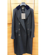 AUTHENTIC LOUIS VUITTON COAT CLASSIC VIRGIN WOOL TRENCH 38 FR S MADE IN ... - $3,976.00
