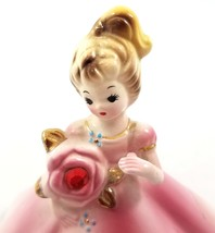 Vtg Josef Original Birthday Angel Girl Figurine July Ruby Birthstone Porcelain - $19.66