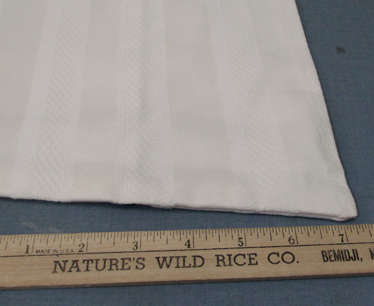 Fabric Woven Cream Off White Ivory Tone Strip Design 2 yds 7 Inch 54 Wide