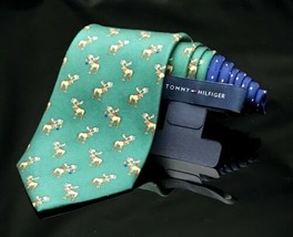 TOMMY HILFIGER Moose  Decorative Christmas Holiday Tie - $34.40