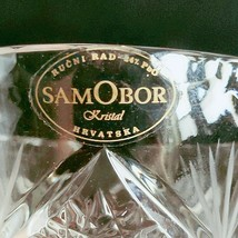 "1 (One) SAMOBOR KRISTAL Cut and Etched Crystal Vase 5"" Made in Croatia- Signed image 2"