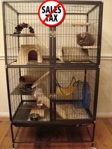 Large Ferret Cage Small Pet Chinchilla Rabbit Hamster Guinea Rat Metal H... - $118.95