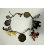 Vintage Sterling Silver Dainty Link Chain Bracelet 12 Charms 24 GR - $95.03