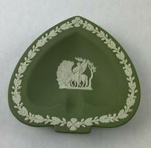 Vintage Wedgwood Green Jasper Jasperware Spade Tray EUC - $29.95