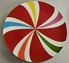 Lenox Cake Plate Peppermint Twist Designed By Kate Spade NIB - $116.88