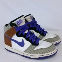 Nike SB Dunk High Multicolor Plaid Purple APC Liberty 2008 Women's Shoes 8.5 - $59.99