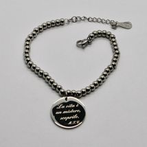 STEEL BRACELET 0,5 AGATE WITH ODE TO LIFE OF MOTHER TERESA OF CALCUTTA image 12