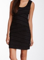 MAX STUDIO BLACK Sleeveless Shell Lace Sheath Dress Large $128 NWT New - $25.00