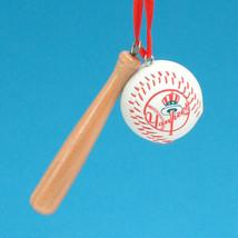 KURT S. ADLER NEW YORK YANKEES WOOD BAT W/ BASEBALL CHRISTMAS TREE ORNAMENT - $4.88