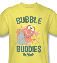 bubble buddies vintage inspired retro cotton yellow tshirt for sale online graphic tee thumb200