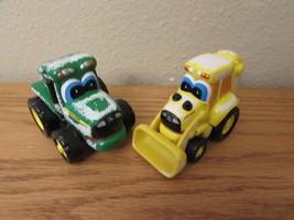 """John Deer Ertl Die Cast Tractors Winter Small Toy 3X4""""n (2) - $5.00"""