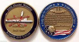 NAVY USS DANIEL WEBSTER SSBN-626  SUBMARINE DETERRENT PATROL CHALLENGE COIN - $27.07