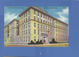New Post Office Federal Building Dallas Texas Linen Postcard Martin News Agency - $7.43