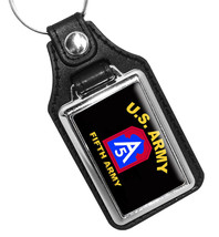 United States Army Fifth Army Emblem Faux Leather Key Ring - €8,92 EUR