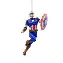 Hallmark Christmas Ornaments, Marvel Avengers Captain America Ornament - $13.12