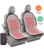 Zento Deals 12V Gray Warm Cushion Heated Car Seat Cover 2 Pack Upgraded ... - $47.68