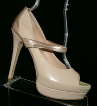 Jessica Simpson 'Elys' nude man made mary jane peep toe platform heels 9B - $32.27