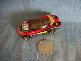 Hot Wheels 1991 Mattel Race Car Red / Black / Yellow Made in Thailand - $1.56