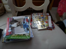 misc lot of more than 50 Greeting cards and 100+ package stickers - $18.00