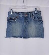 Womens American Eagles Mini Denim Skirt Sz 4 Distressed - $9.95