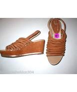 New $235 Womens 8.5 Donald J Pliner Wedge Platform Sandals Brown Shoes S... - $117.50