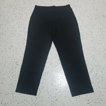 Alfred Dunner Women's Cropped Dress Pants ~ Size 8 ~ Black ~ Rayon Blend - $24.74