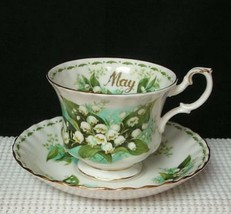 Lovely TEA CUP & SAUCER by ROYAL ALBERT * MAY - LILY OF THE VALLEY * Chi... - $19.39