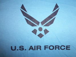 United States U.S. Air Force Ringer Blue Graphic Print T Shirt - S - $18.45