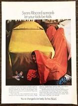 1970 Sears Ribcord Bedspreads Print Ad Let Your Kids Be Kids - $10.70