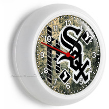 Chicago White Sox Baseball Team Wall Clock Man Cave Boys Room Man Cave Garage - $23.39