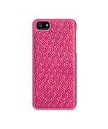 iPhone 5 Merkury Weave Rubberized Snap Case pink - $10.00
