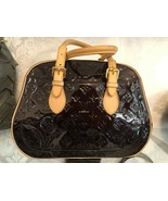 "LOUIS VUITTON ""Summit Drive"" Blk Patent/Leather Trim Double Top Handle B... - $1,385.90"