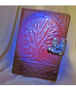 Haunted 14X WISHING MAGNIFIER JOURNAL HIGH MAGICK LEATHER BOUND WITCH CA... - $137.77