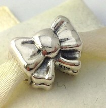Authentic Pandora Perfect Gift Bow Bead Sterling Silver Charm 791204 New - $34.19