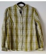 Charter Club Petites Long Sleeve Button Front Shirt Blouse Stretch 10 P ... - $13.86